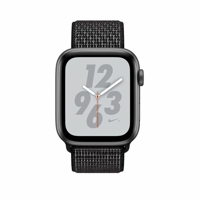 Apple iWatch MU7J2 Series 4 44mm Space Gray Case with Black Nike Sport Loop