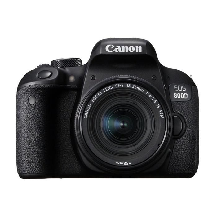 Canon EOS 800D 24.2 MP 18-55mm Lens Wi-Fi DSLR Camera - Black