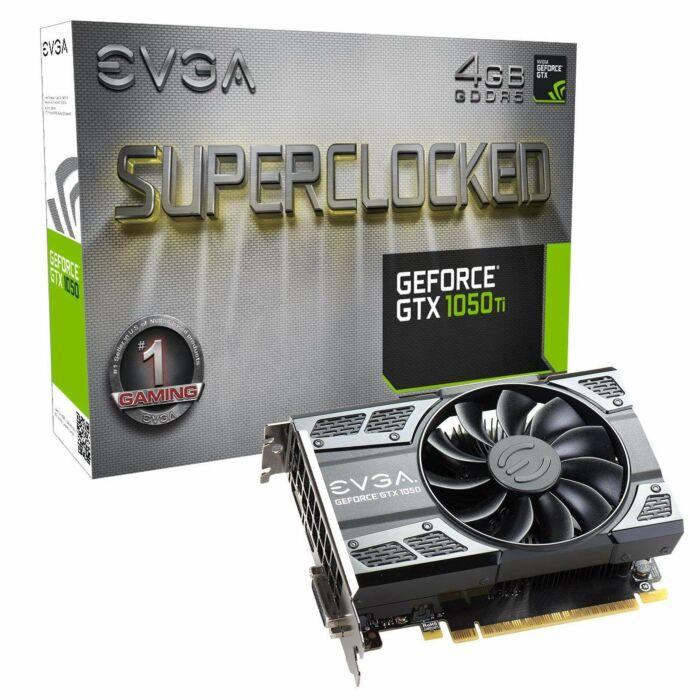 EVGA GeForce GTX 1050TI SC - 4GB GDDR5 128-Bit Single Fan Graphic Card (P4-6253-KR)
