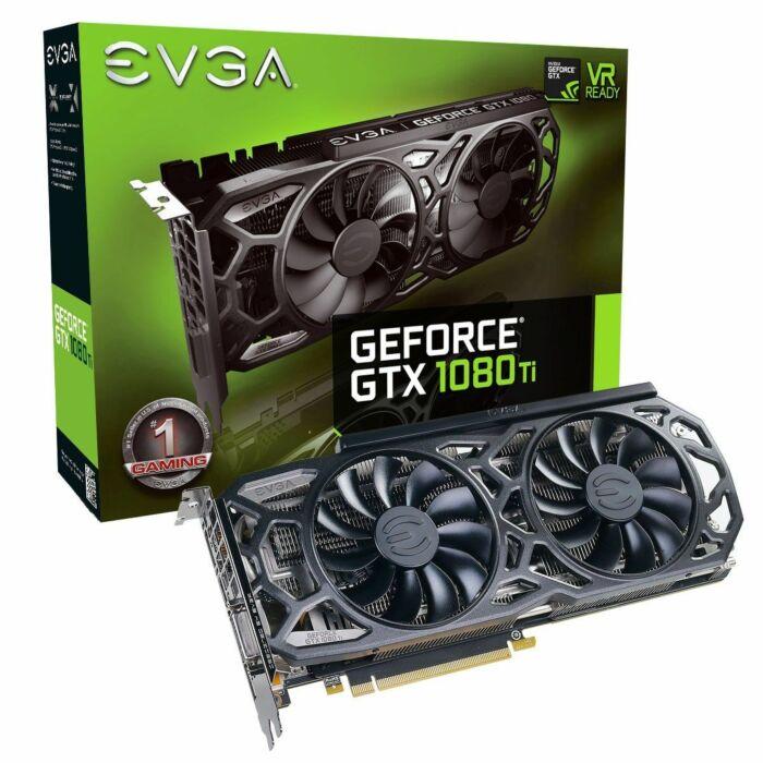 EVGA GeForce GTX 1080 Ti SC Black Gaming Edition - 11GB GDDR5X 352-Bit iCX Cooler & LED Optimized Airflow Design Graphic Card (P4-6393-KR)