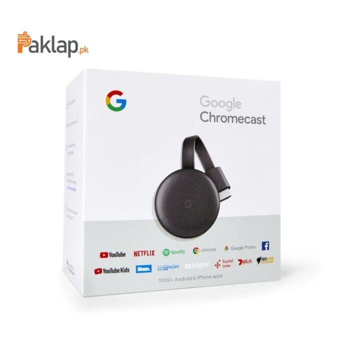 Google Chromecast 3 Media Streaming Device (2018)