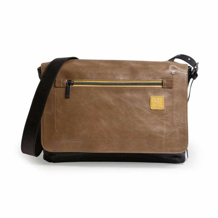 Gola G1578 Bag (Black+Brown Leather) (13.3