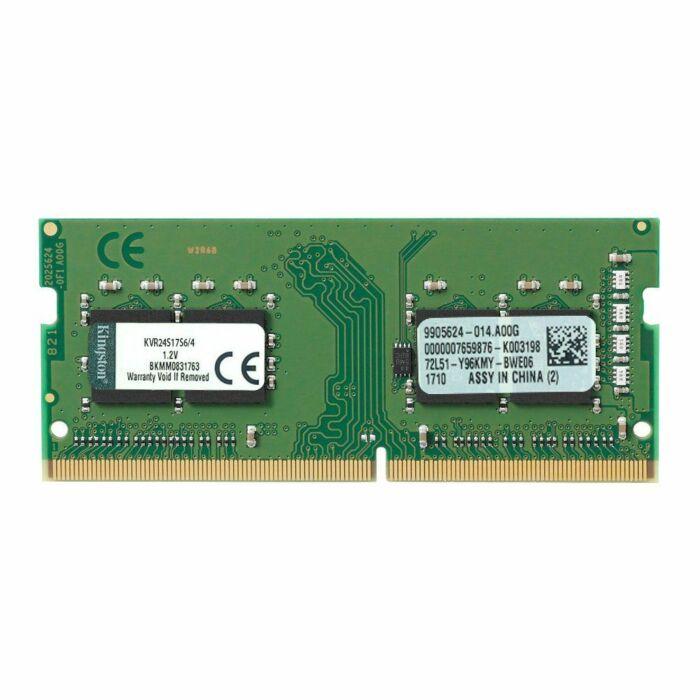 Kingston DDR4 4GB 2400Mhz Non ECC Laptop Memory (KVR24S17S6/4)