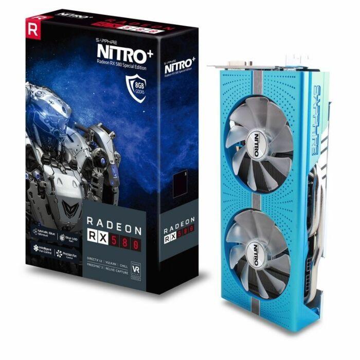 Sapphire Nitro + Radeon Special Edition - RX580 8GB  256-Bit GDDR5 Graphic  Card (11265-21-20G )