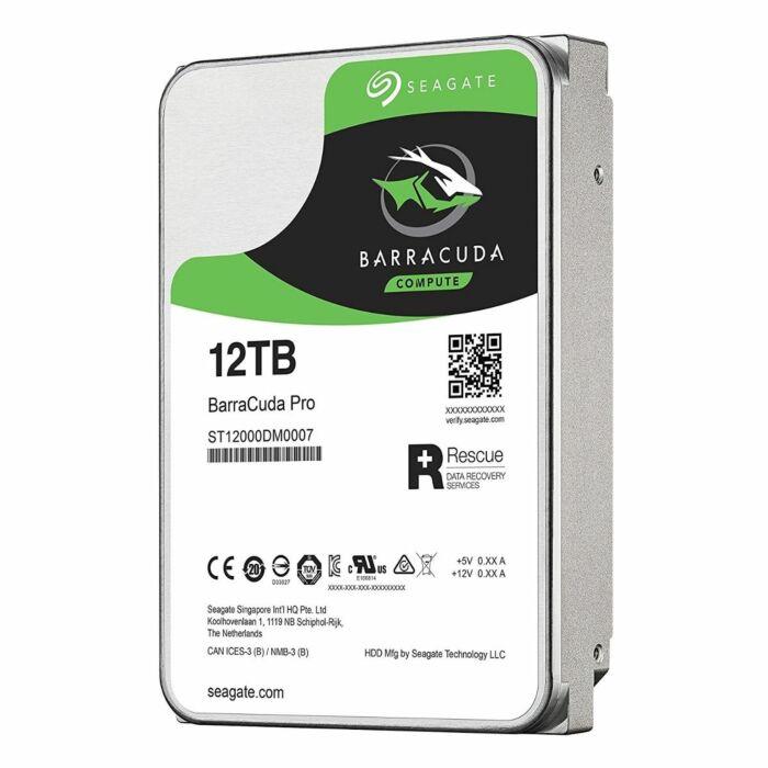 Seagate BarraCuda ST12000DM0007 12TB 7200 RPM 256MB Cache SATA 6.0Gb/s 3.5