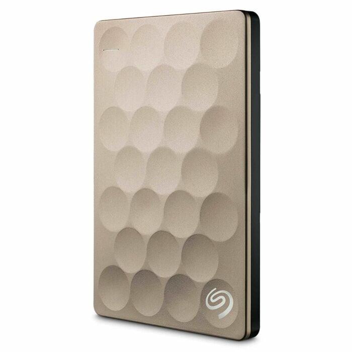 Seagate Backup Plus Ultra Slim 2TB Portable Hard Drive USB 3.0 (Gold)