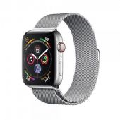 Apple iWatch MTV42 Series 4 44mm Cellular Stainless Steel Case with Milanese Loop + GPS