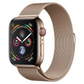 Apple iWatch MTX52 Series 4 44mm Cellular Stainless Steel Gold Case with Milanese Loop + GPS