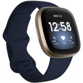 Fitbit Versa 3 - Fitness Smart Watch + GPS  (Gold Aluminum with Blue Band)