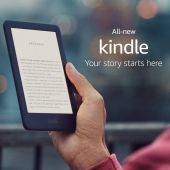 """Amazon All-New Kindle - 6"""" - 4GB - Black - Now with a Built-in Front Light"""