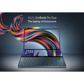 "Asus ZenBook Pro Duo UX581 - 9th Gen Ci7 HexaCore Coffee Lake Processor 16GB 1-TB SSD 6-GB NVIDIA GeForce RTX 2060 GDDR6 15.6"" OLED 4K NanoEdge Touchscreen DUAL Display & NumberPad Harman Kardon Sound Backlit KB W10 Pro (With Active S Pen, Celestial Blue)"