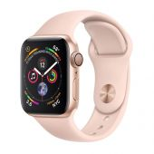 Apple iWatch MU682 Series 4 40mm Gold Aluminum Case With Pink Sand Sport Band
