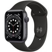 Apple Watch Series 6 40mm MG133 Space Gray Aluminum Case with Black Sport Band + GPS