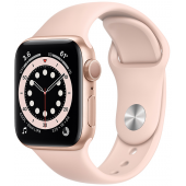 Apple Watch MG123 Series 6 40mm Gold Aluminum Case with Pink Sport Band + GPS
