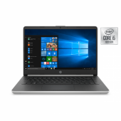 "HP 14 DQ1037 Ice Lake - 10th Gen Core i5 04GB 128GB SSD 14"" MicroEdge HD AG 720p LED Win 10 (Natural Silver)"