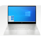 """HP ENVY 15 - EP000 Series - Comet Lake - 10th Gen Core i9 Octa-Core Processor 32GB 2-TB SSD 6-GB NVIDIA GeForce RTX2060 With Max-Q Design 15.6"""" 4K UHD BV MicroEdge AMOLED 400nits Touchscreen Display Backlit KB B&O Play FPR W10 (Natural Silver, Open Box)"""