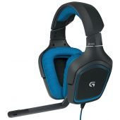 Logitech G430 Surround Sound 7.1 Gaming USB Headset (Black+Blue)