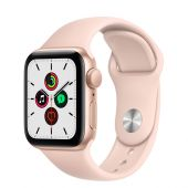 Apple Watch MYDN2 SE 40mm Gold Aluminum Case with Pink Sand Sports Band