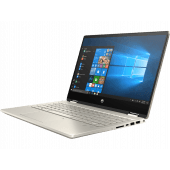 "HP Pavilion x360 14t DH1003dx Comet Lake - 10th Gen Core i5 08GB 256GB SSD 14"" Full HD Micro Edge Convertible Touchscreen Display B&O Play Backlit KB Windows 10 (Pale Gold)"