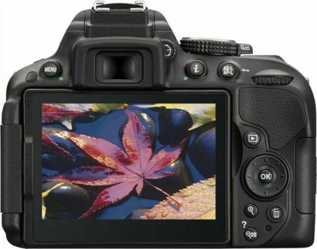 Nikon D5300 24 MP 18-55mm lens Wi-Fi DSLR Camera Black